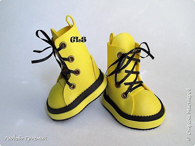 Желтые ботинки .... и тоже из фома фото 3