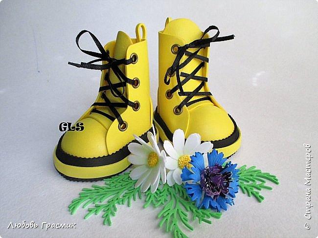 Желтые ботинки .... и тоже из фома фото 1