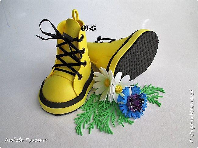 Желтые ботинки .... и тоже из фома фото 2