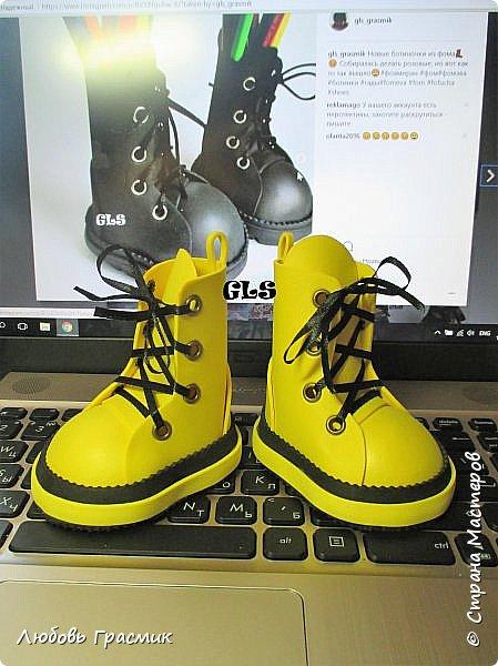 Желтые ботинки .... и тоже из фома фото 5