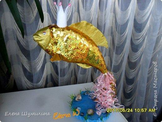 3олотая рыбка!!! Поделка в садик дочки! фото 1