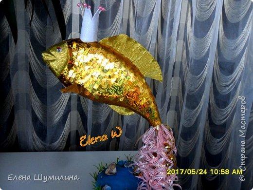 3олотая рыбка!!! Поделка в садик дочки! фото 2