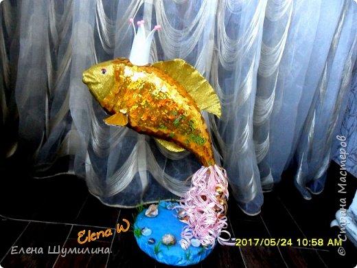 3олотая рыбка!!! Поделка в садик дочки! фото 3
