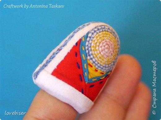 Корейский классический наперсток - сделан в технике пэчворка. Очень интересная тахника изготовления. Из-за большого количества наслоений ткани прекрасно выполняет роль наперстка. фото 4