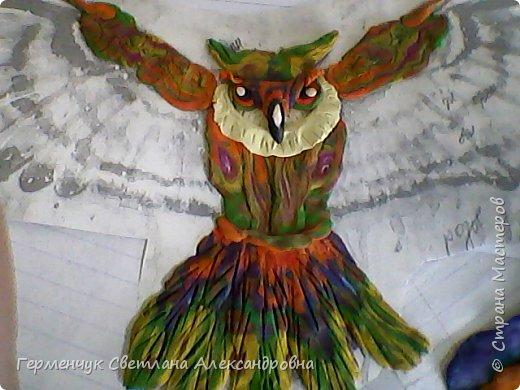 Сказочная совушка из пластилина фото 4
