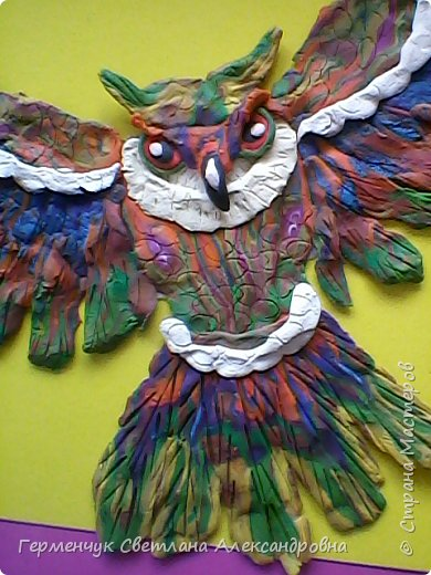 Сказочная совушка из пластилина фото 10