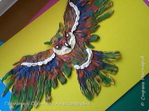 Сказочная совушка из пластилина фото 15
