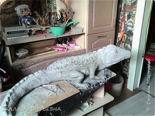 ПОДРАСТАЮТ  ПАЛЬМЫ   \клещевина\В ОГОРОДЕ...и решила я сделать скульптурку побольше---там и поселится ..среди зелени  фото 3
