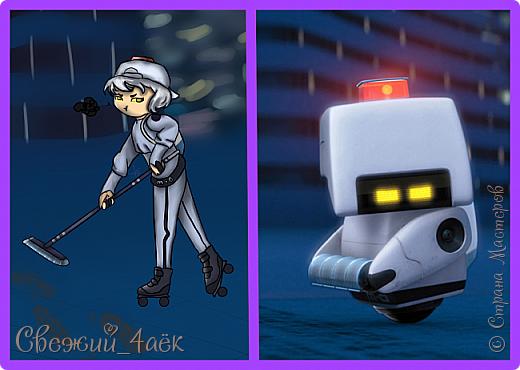 """Всем привет. Сегодня я сдаю работу на конкурс """"Персонажи Pixar""""- http://stranamasterov.ru/node/1100771 Я изобразила хуманизацию робота-уборщика М-О из Валли фото 3"""