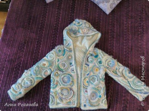 Курточка в технике Фрифом фото 1