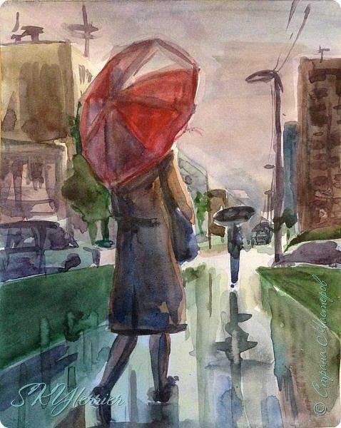 Вчера я шла из магазина после дождя и увидела такую красоту)))  фото 1