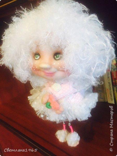 Приветствую !Простенькая куклеха...ножки,ручки на веревочках фото 1