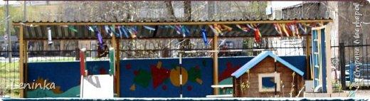 Вот наступило лето и я опять ремонтирую очередные веранды в детском саду.  Очень люблю наши советские мультики. Вот что у меня получилось. Картинки я срисовывала.Краски акриловые в конце работы все покрыла лаком. Строго не судите я не художник. фото 2