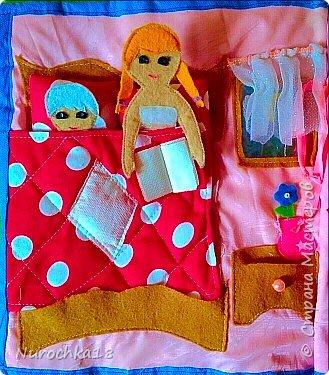 """Здравствуйте все жители страны мастеров. Хочу поделиться с вами одной работой. Это работа моей сестры. Она на сайте не зарегистрирована, но была не против размещения своей работы здесь. Мне кажется, что эту работу должны увидеть многие. Представляем вашему вниманию кукольный домик из фетра, сделанный для фетровых кукол Анны и Эльзы (по мотивам мультфильма """"Холодное сердце""""). Кукольный домик сделан ко дню рождения моей племянницы. фото 12"""