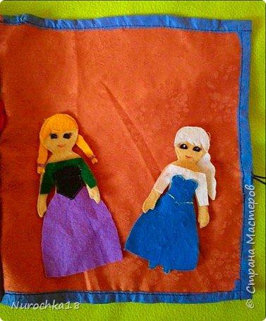 """Здравствуйте все жители страны мастеров. Хочу поделиться с вами одной работой. Это работа моей сестры. Она на сайте не зарегистрирована, но была не против размещения своей работы здесь. Мне кажется, что эту работу должны увидеть многие. Представляем вашему вниманию кукольный домик из фетра, сделанный для фетровых кукол Анны и Эльзы (по мотивам мультфильма """"Холодное сердце""""). Кукольный домик сделан ко дню рождения моей племянницы. фото 39"""