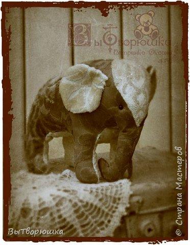 Вот такая семейка у меня появилась благодаря совместному пошиву Хотьковского слоника у замечательного мастера Виктории Макаровой.)  фото 3
