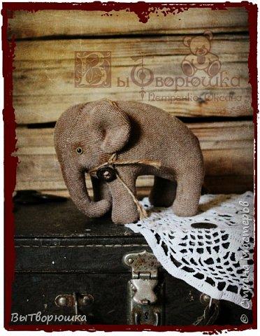 Вот такая семейка у меня появилась благодаря совместному пошиву Хотьковского слоника у замечательного мастера Виктории Макаровой.)  фото 2