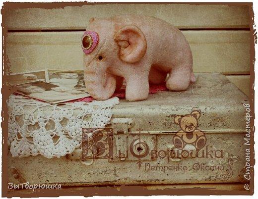 Вот такая семейка у меня появилась благодаря совместному пошиву Хотьковского слоника у замечательного мастера Виктории Макаровой.)  фото 5