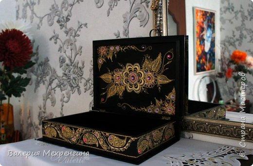 Мега-шкатулка роспись конусом. Часть 2 фото 3