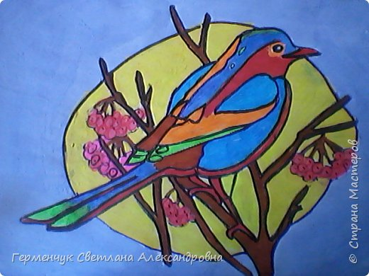 "Раскраски  птицы  ребят  4""В"" класса фото 1"
