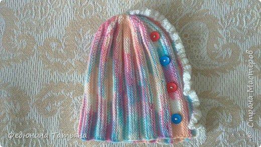 шапочка на весну, пряжа  Пехорка Детский каприз фото 6