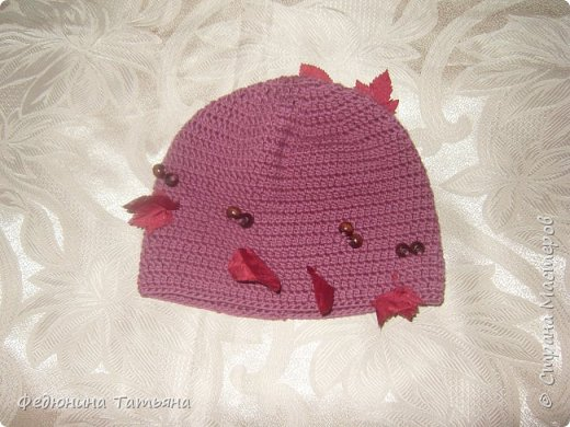 шапочка на весну, пряжа  Пехорка Детский каприз фото 5