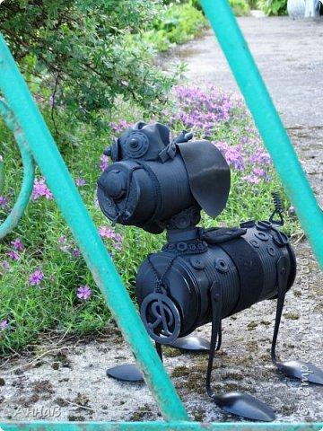 Очередной вариант кормушки из старых чашек, пока не знаю понравиться ли птицам :)  фото 12
