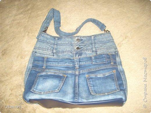 Дорогие жители Страны. Лето почти началось, хочется летнего не только в одежде, но и в аксессуарах. Джинсовая тема в одежде всегда актуальна. Давно мечтала о джинсовой сумке. Реализовала мечту. Очень объёмная, 45 х 38.    10 карманов, фантастика. Даже ремешок и тот джинсовый. фото 1
