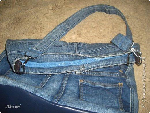 Дорогие жители Страны. Лето почти началось, хочется летнего не только в одежде, но и в аксессуарах. Джинсовая тема в одежде всегда актуальна. Давно мечтала о джинсовой сумке. Реализовала мечту. Очень объёмная, 45 х 38.    10 карманов, фантастика. Даже ремешок и тот джинсовый. фото 4