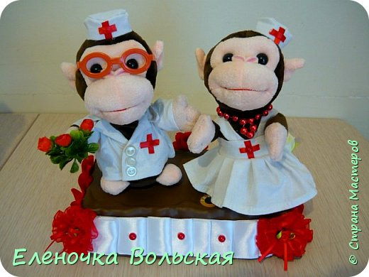 Вот такие Врачи - обезьянки у меня получились фото 1