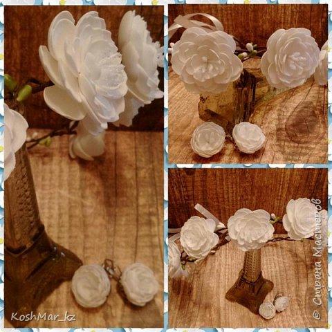 Радужная фантазийная роза на ободке фото 7