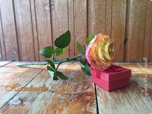 Роза из холодного фарфора. фото 1