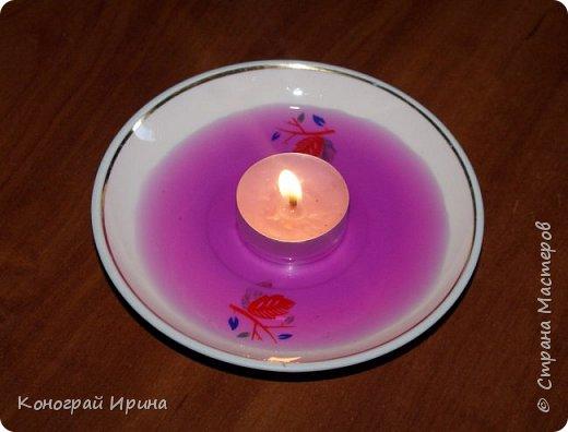 Интересный опыт для деток со свечой и водой. фото 4