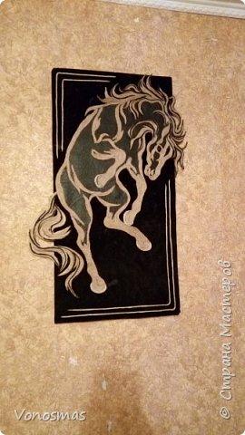 Конь из кожи и джутового шпагата фото 1