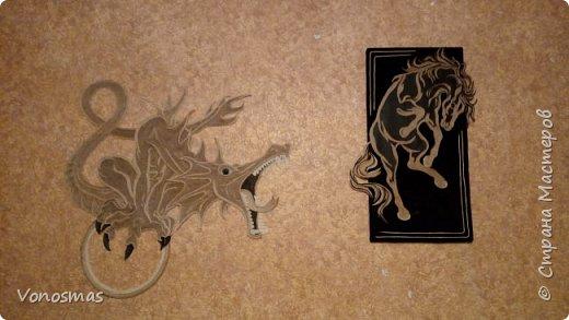 Конь из кожи и джутового шпагата фото 3