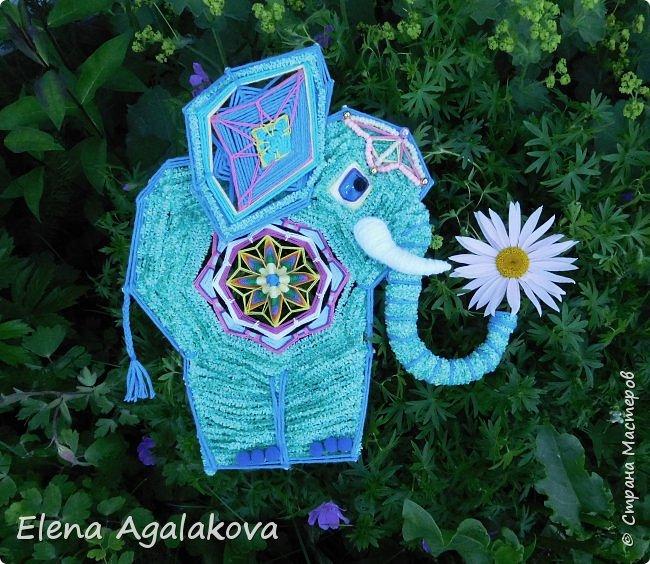 Моя первая проба сделать Мандалу-Слона. Это мое собственное изобретение, импровизация можно сказать (как и много моих других мандал), не видела еще нигде мандал-слоников. Слон является символом мудрости и силы, с поднятым хоботом, он часто используются в качестве талисмана и оберега.  Символ слона в доме устраняет проблемы и конфликты, принося процветание и положительную энергию. Ну я ему дала в хобот мою маленькую мандалу-коловрат. фото 3