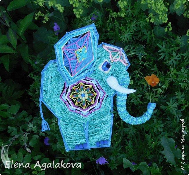 Моя первая проба сделать Мандалу-Слона. Это мое собственное изобретение, импровизация можно сказать (как и много моих других мандал), не видела еще нигде мандал-слоников. Слон является символом мудрости и силы, с поднятым хоботом, он часто используются в качестве талисмана и оберега.  Символ слона в доме устраняет проблемы и конфликты, принося процветание и положительную энергию. Ну я ему дала в хобот мою маленькую мандалу-коловрат. фото 4