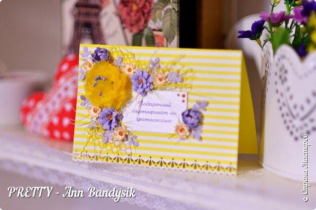 Подарочные цветочные сертификаты на фотосессию для фотографа! фото 3