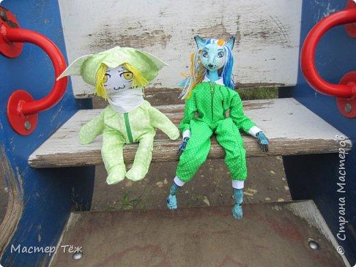 Лето чудесная пара для творчества. И мы с парнями решили погулять. Лис ещё не совсем готов, но всё это скрылось за зеленой пижамой. Я очень торопился, потому что мы хотим участвовать в конкурсе костюмов! Но попутно делимся с вами этим позитивным днём: прогулка удалась!   фото 1