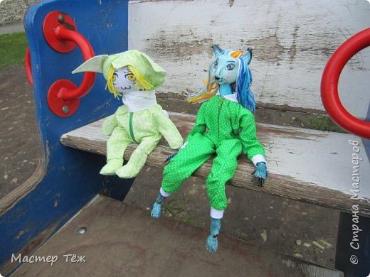 Лето чудесная пара для творчества. И мы с парнями решили погулять. Лис ещё не совсем готов, но всё это скрылось за зеленой пижамой. Я очень торопился, потому что мы хотим участвовать в конкурсе костюмов! Но попутно делимся с вами этим позитивным днём: прогулка удалась!   фото 2