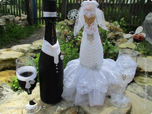 Впереди свадьба брата мужа, мама попросила оформить для молодых набор, что из этого получилось - судить Вам. Спасибо большое девочкам за МК. фото 2