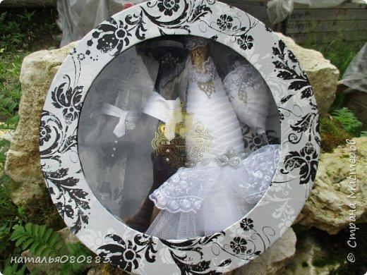 Впереди свадьба брата мужа, мама попросила оформить для молодых набор, что из этого получилось - судить Вам. Спасибо большое девочкам за МК. фото 1