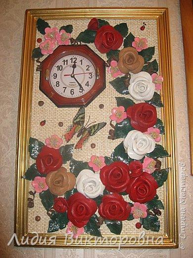 Часы  в цветах фото 1