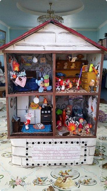 Вот такой домик мы с сыном сделали для конкурса на тему : дети против огненных забав  фото 1