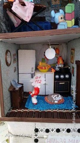 Вот такой домик мы с сыном сделали для конкурса на тему : дети против огненных забав  фото 5