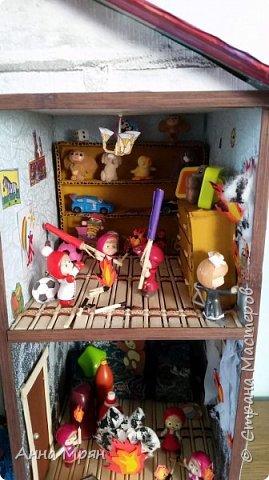 Вот такой домик мы с сыном сделали для конкурса на тему : дети против огненных забав  фото 2
