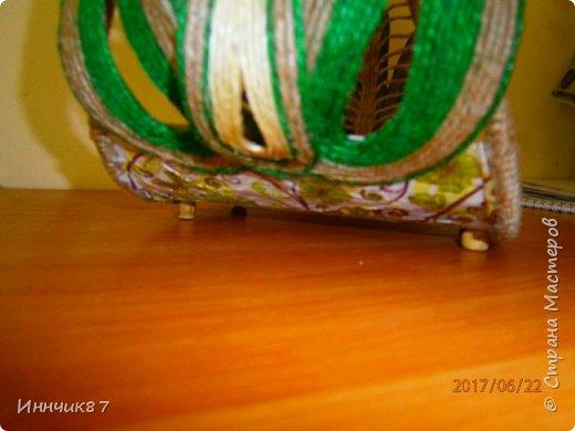 Доброго времени суток! Я к вам с очередной моей шпагатной корзинкой-конфетницей. На всех корзинках в качестве украшения выступают маки, почему они? - просто всем заказчикам понравилась моя первая работа с маками и теперь все хотят именно маки... фото 8