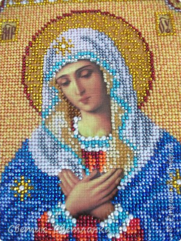 Доброго времени суток, Страна! На этот раз я к Вам с вышивкой бисером. Икона Богородица Умиление. Вышивалась на одном дыхании, с большим удовольствием! Необыкновенно красивая икона!   фото 7