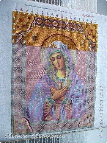 Доброго времени суток, Страна! На этот раз я к Вам с вышивкой бисером. Икона Богородица Умиление. Вышивалась на одном дыхании, с большим удовольствием! Необыкновенно красивая икона!   фото 8