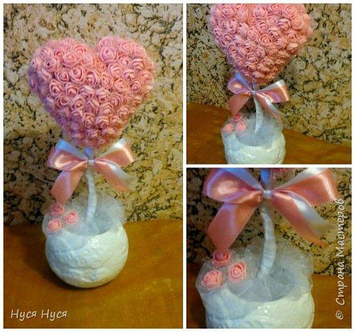 Сердце из роз. Топиарий. Подарок фото 1